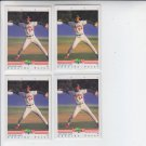 Eduardo Perez Trading Card Lot of (4) 1992 Classic/Best #211 Angels