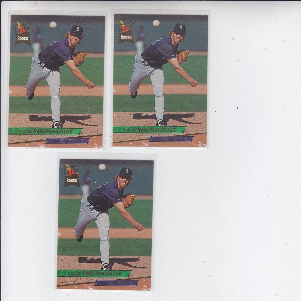 David Wainhouse Trading Card Lot of (3) 1993 Fleer Ultra #626 Mariners