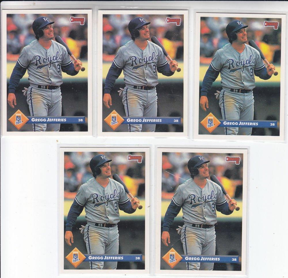 Greg Jefferies Trading Card Lot of (5) 1993 Donruss #307 Royals