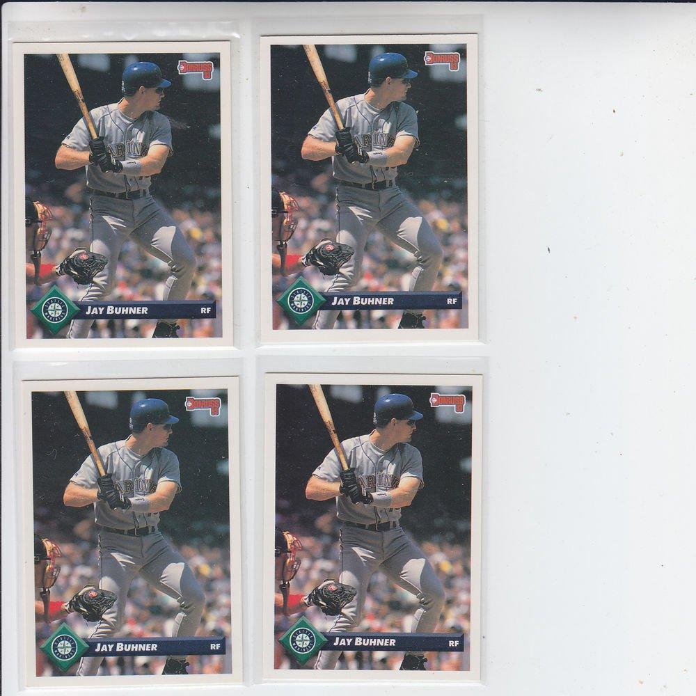 Jay Buhner Trading Card Lot of (4) 1993 Donruss #111 Mariners