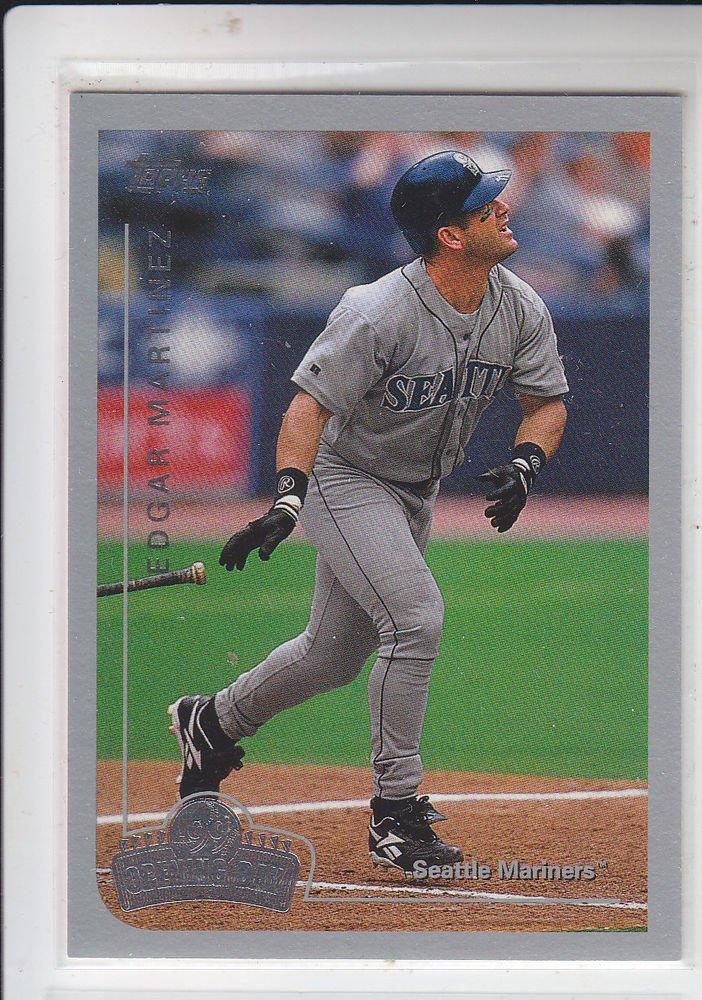 Edgar Martinez Trading Card Single 1999 Topps Opening Day #100 Mariners