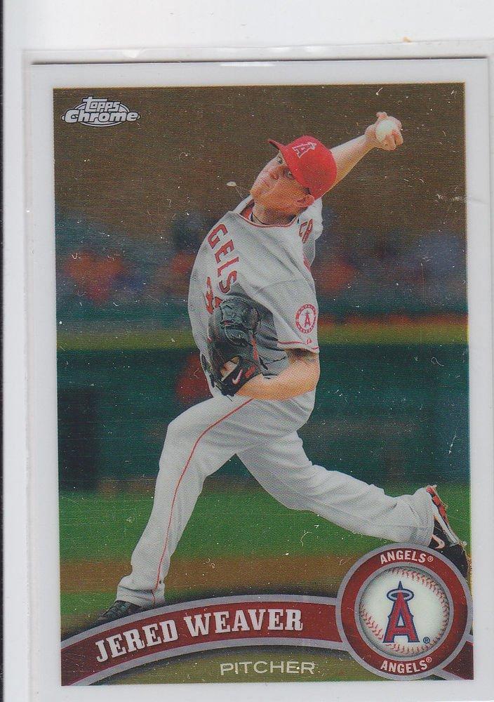 Jered Weaver Trading Card Single 2011 Topps Chrome #164 Angels