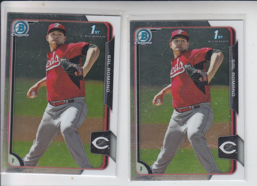 Sal Romano Lot of (2) 2015 Bowman Chrome #BC49 Reds