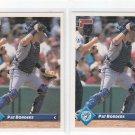 Pat Borders Trading Card Lot of (2) 1993 Donruss #115 Blue Jays