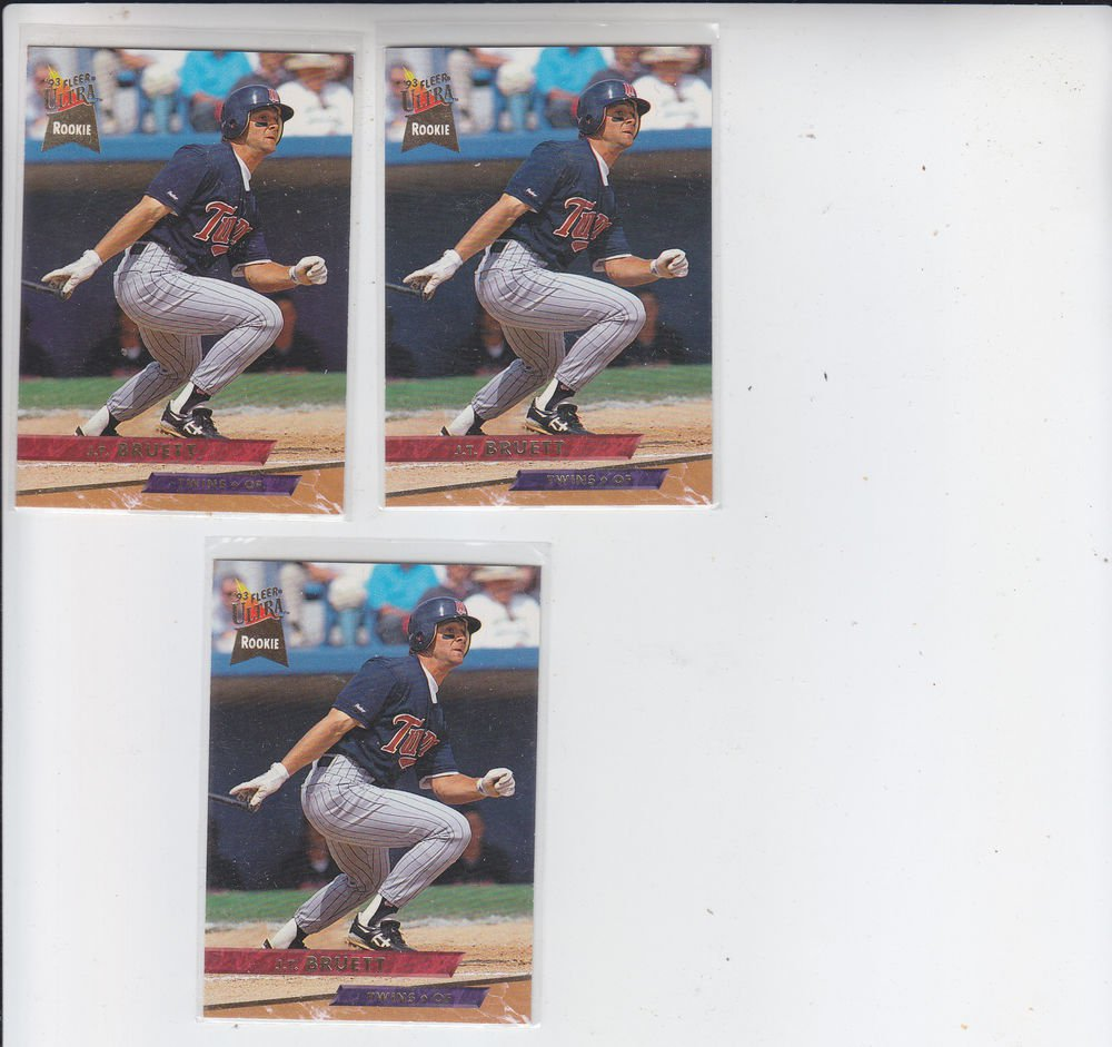JT Bruett Trading Card Lot of (3) 1993 Fleer Ultra #229 Twins
