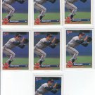 Mark Lemke Trading Card Lot of (7) 1993 Donruss #316 Braves
