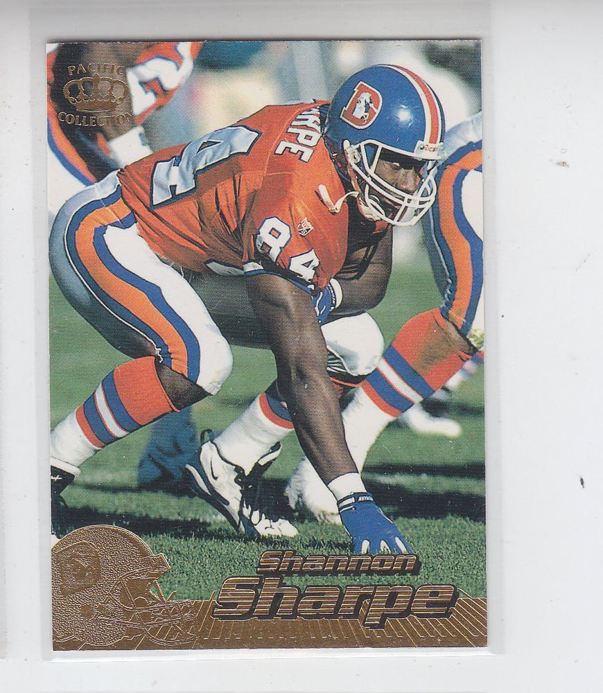 Shannon Sharpe Trading Card Single 1996 Pacific Collection #125 Broncos