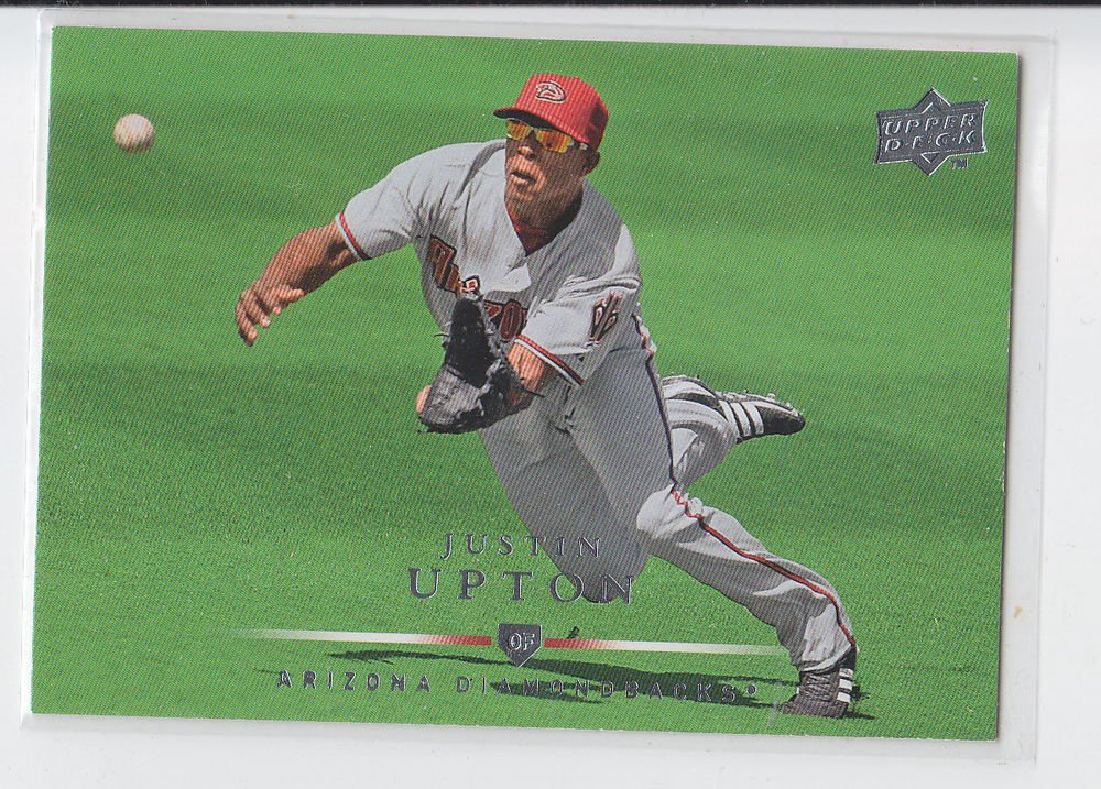 Justin Upton Trading Card Single 2008 Upper Deck #405 Diamondbacks