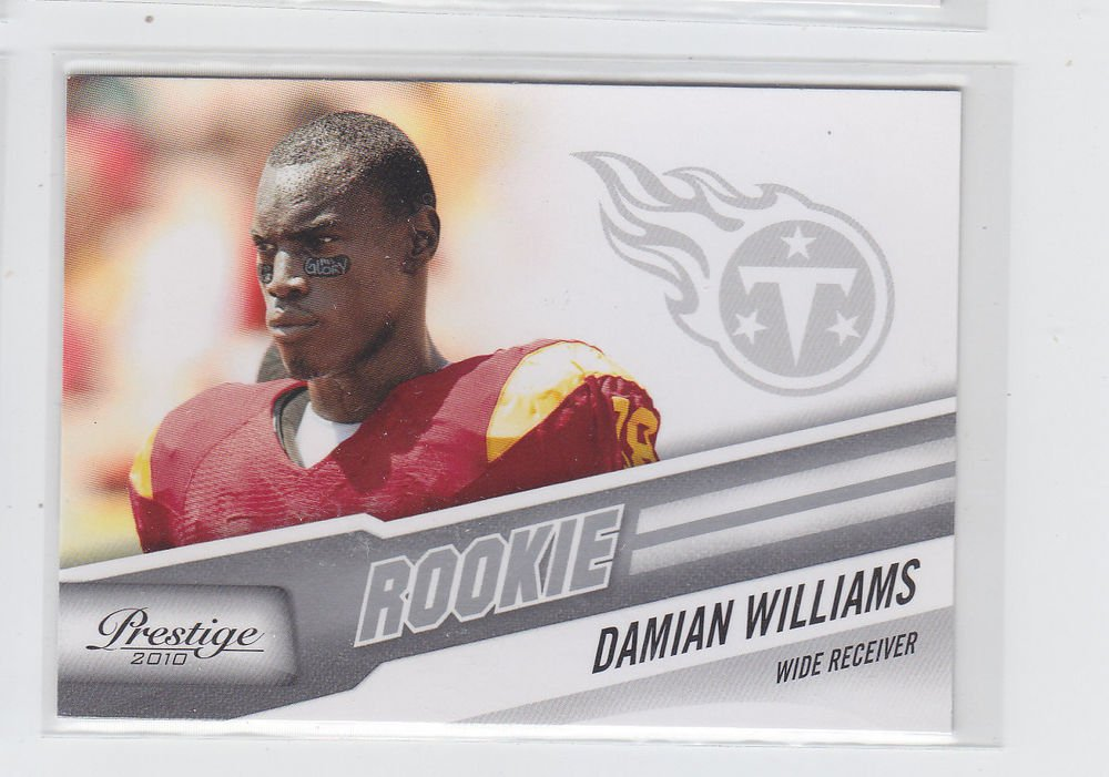 Damian Williams RC Trading Card Single 2010 Panini Certified #225 Titans