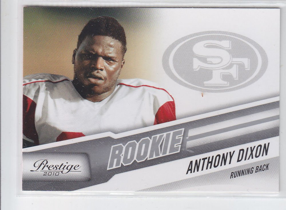 Anthony Dixon RC Trading Card Single 2010 Panini Certified #205 49ers