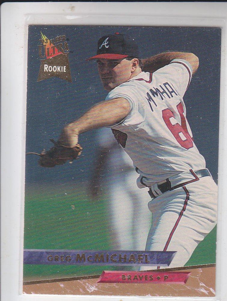 Greg McMichael Trading Card Single 1993 Fleer Ultra #308 Braves