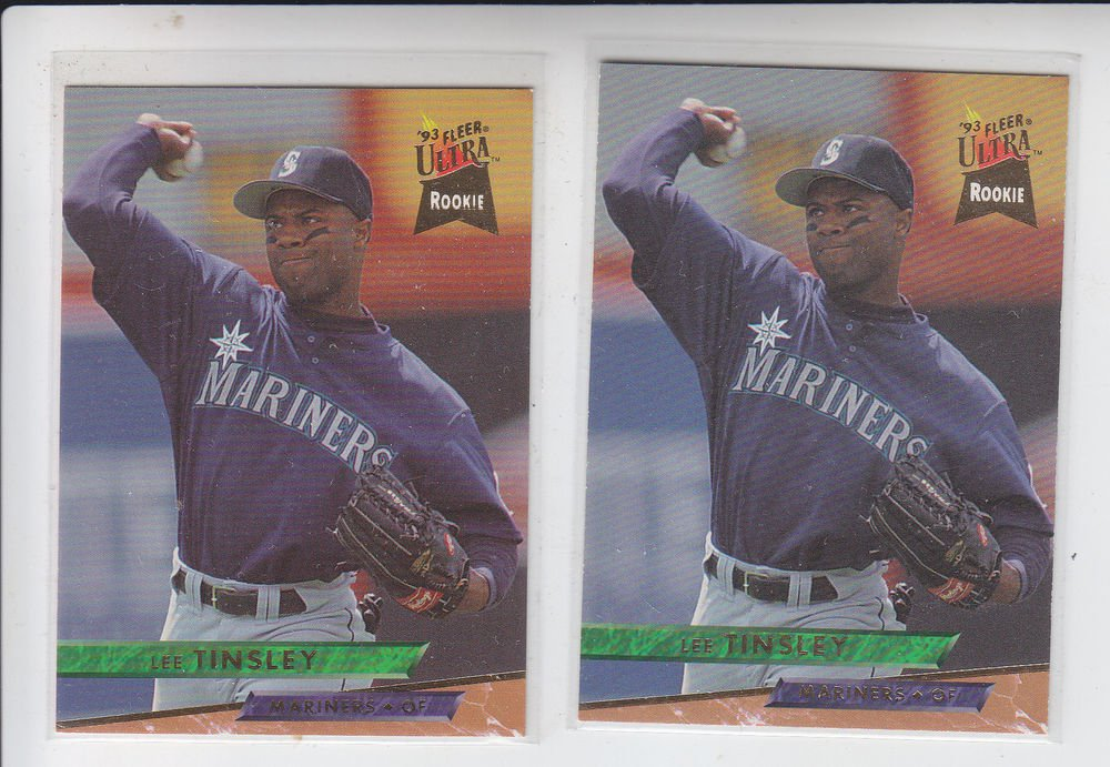 Lee Tinsley Trading Card Lot of (2) 1993 Fleer Ultra #624 Mariners