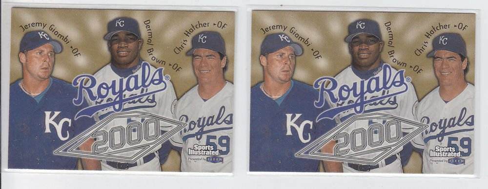 Jeremy Giambi Trading Card Lot of (2) 1999 Fleer Sports Illustrated #67 Royals