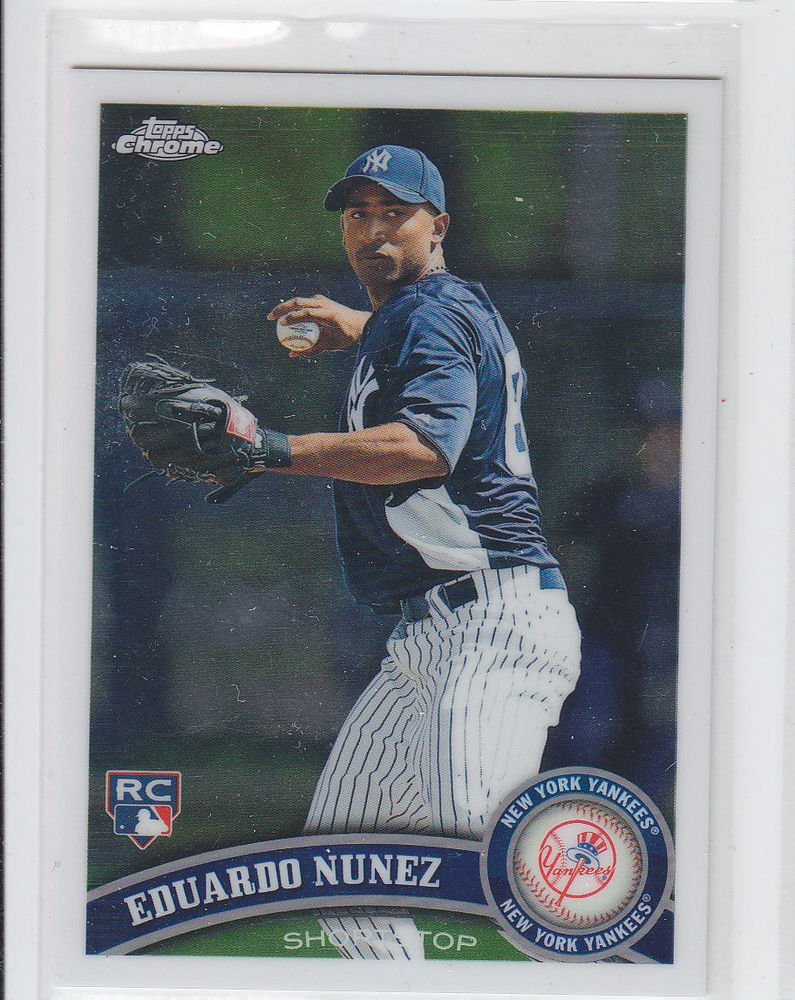 Eduardo Nunez RC Trading Card Single 2011 Topps Chrome #198 Yankees