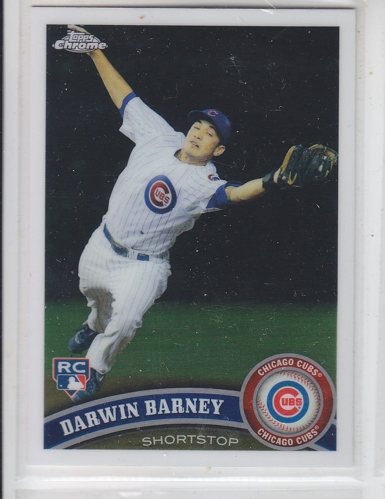 Darwin Barney RC Trading Card Single 2011 Topps Chrome #193 Cubs