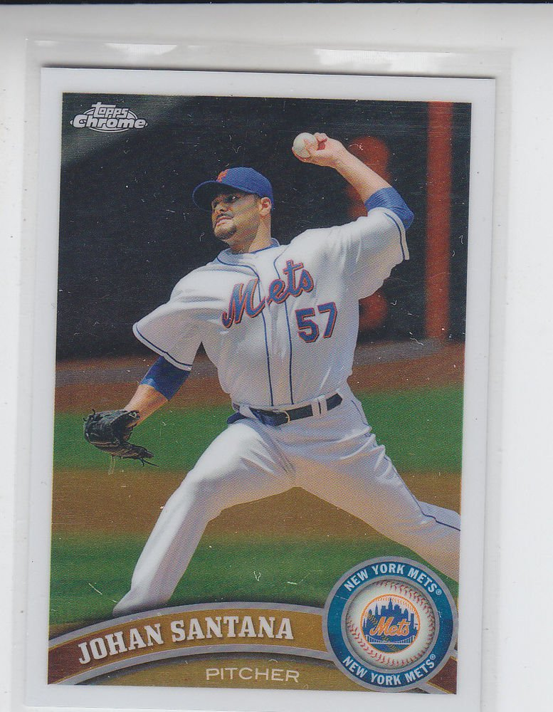 Johan Santana Trading Card Single 2011 Topps Chrome #126 Mets