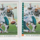 Pete Stoyanovich Trading Card Lot of (2) 1993 Score #15 Dolphins