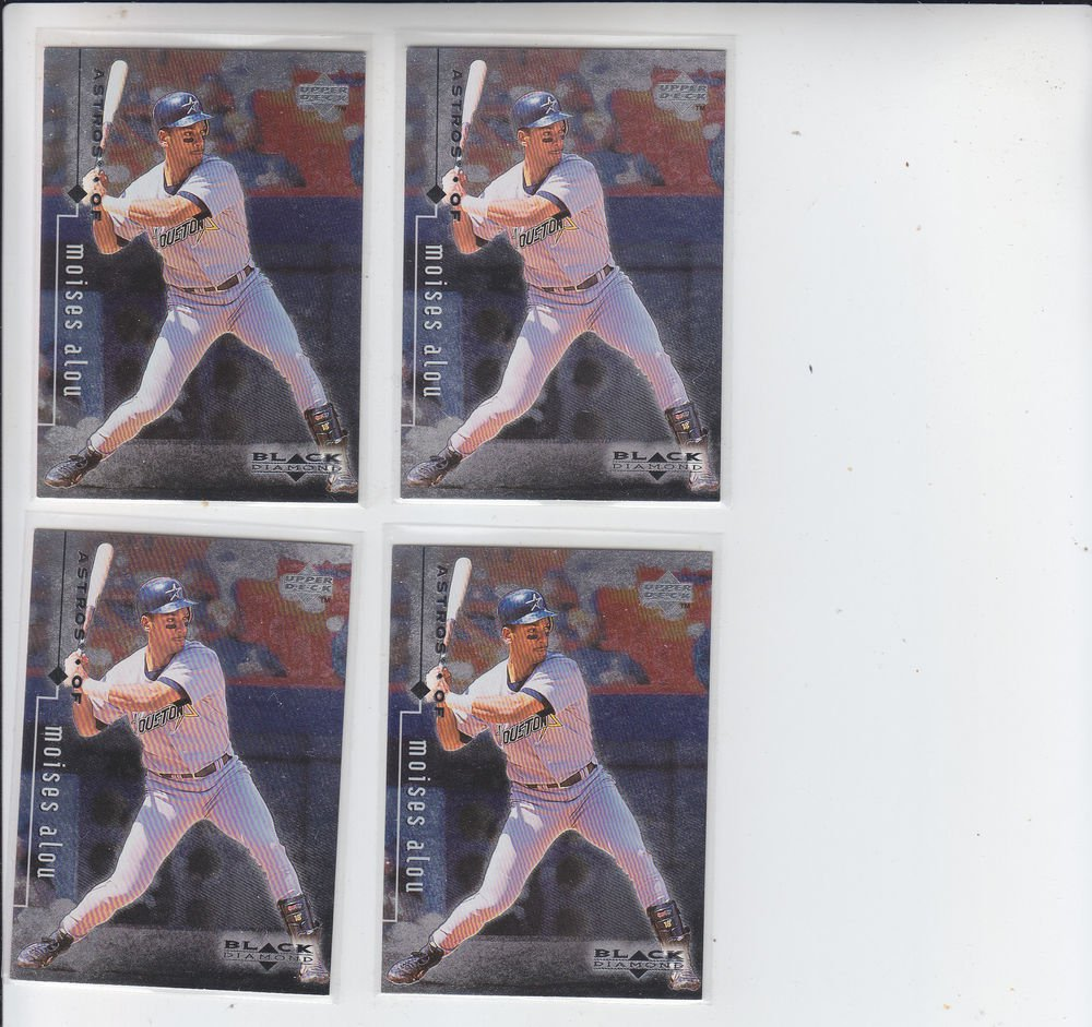 Moises Alou Trading Card Lot of (4) 1999 UD Black Diamond #36 Astros