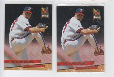 Tim Fortugno Trading Card Lot of (2) 1993 Fleer Ultra #163 Angels