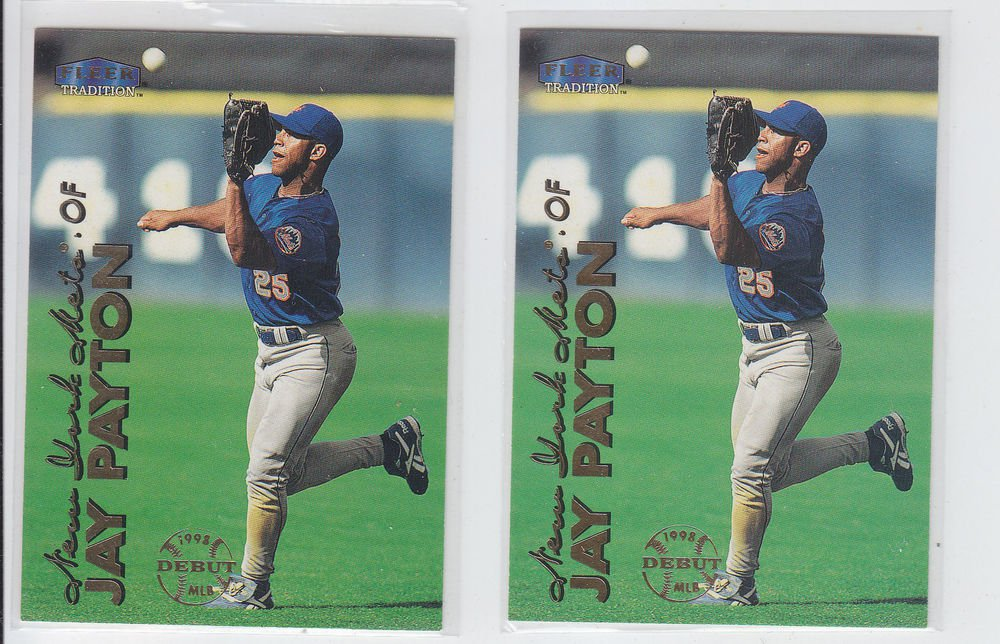 Jay Payton Trading Card Lot of (2) 1999 Fleer Tradition #253 Mets
