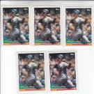 Moises Alou Trading Card Lot of (5) 1994 Topps #50 Expos