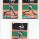 Lou Whitaker Trading Card Lot of (3) 1994 Topps #410 Tigers