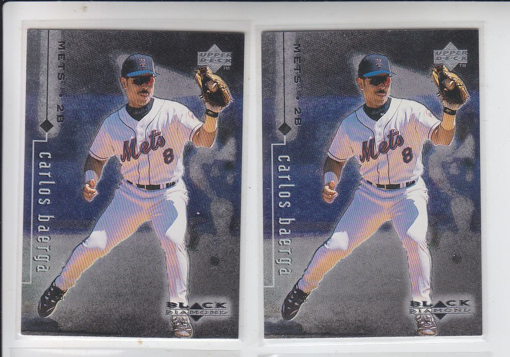 Carlos Baerga Trading Card Lot of (2) 1999 UD Black Diamond #54 Mets