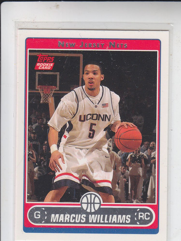 Marcus Williams RC Trading Card Single 2006-07 Topps #243A Nets