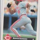 Reggie Sanders Trading Card Single 1993 Donruss #403 Reds
