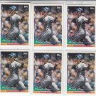 Moises Alou Trading Card Lot of (6) 1994 Topps #50 Expos