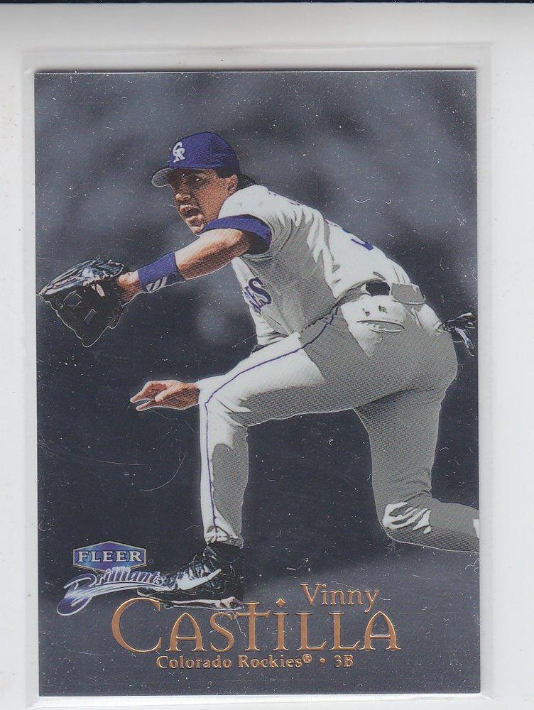 Vinny Castilla Trading Card Single 1999 Fleer Briliants #21 Rockies