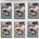 Alan Trammell Trading Card Lot of (6) 1994 Topps #75 Tigers