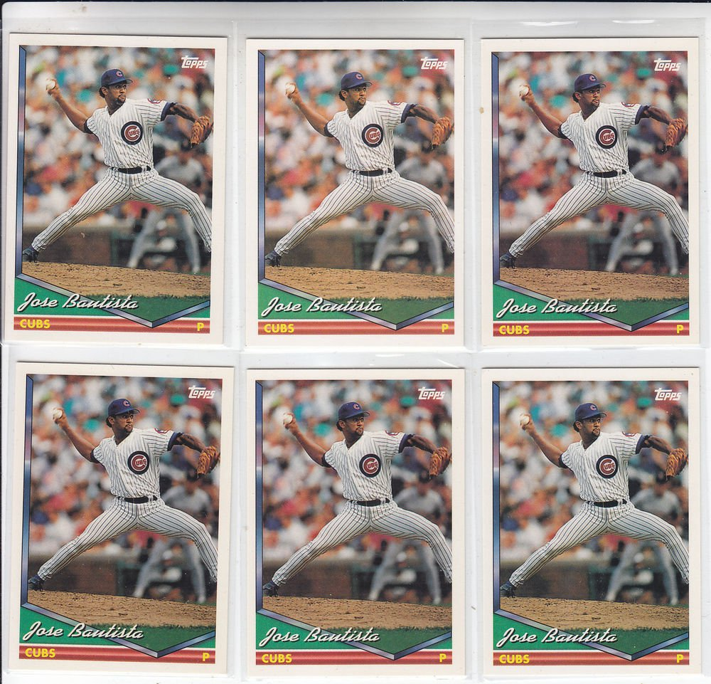 Jose Bautista Trading Card Lot of (7) 1994 Topps #92 Cubs