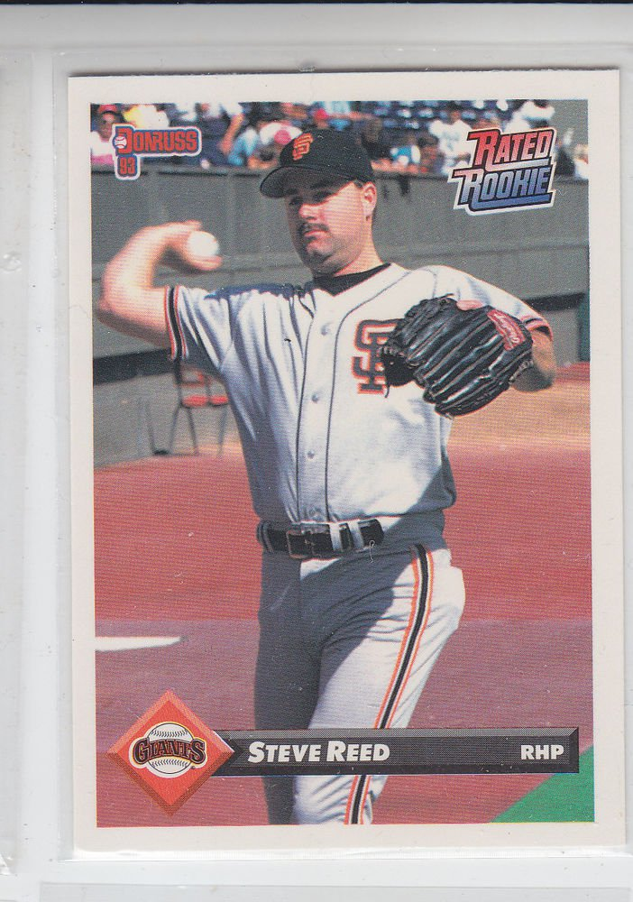 Steve Reed Rated RC Trading Card Single 1993 Donruss #375 Giants