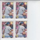 Dante Bichette Trading Card Lot of (4) 1993 Donruss #45 Brewers