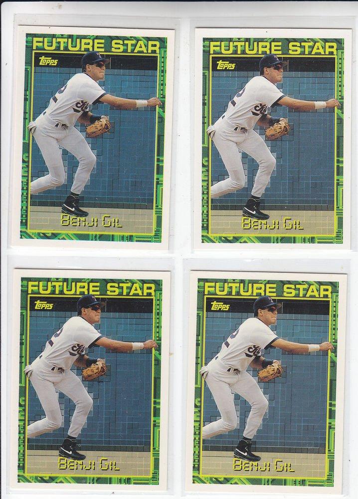 Benji Gil Trading Card Lot of (4) 1994 Topps #231 Rangers