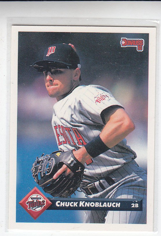 Chuck Knoblauch Trading Card Single 1993 Donruss #415 Twins