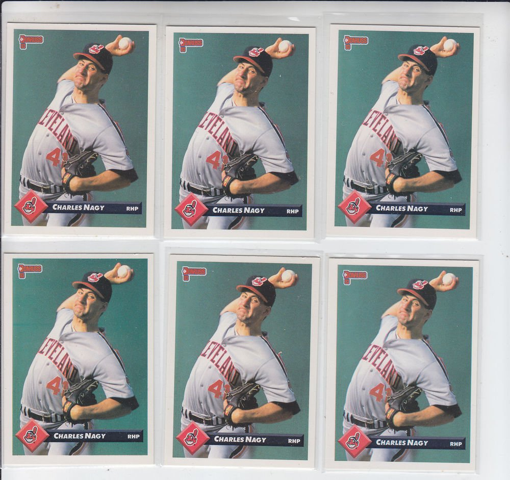 Charles Nagy Trading Card Lot of (6) 1993 Donruss #141 Indians