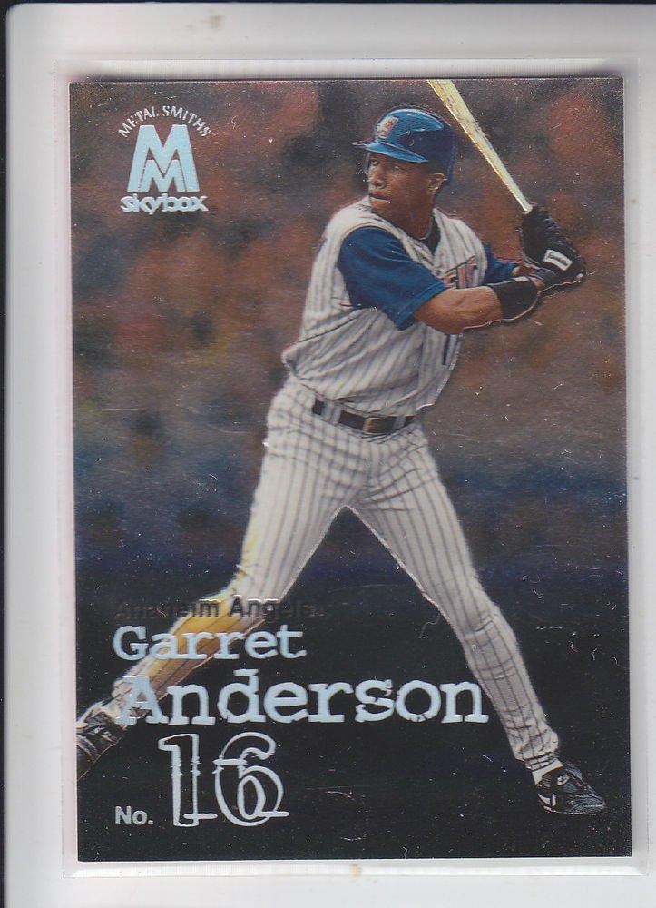 Garret Anderson Trading Card Single 1999 Skybox Molten Metal #58 Angels
