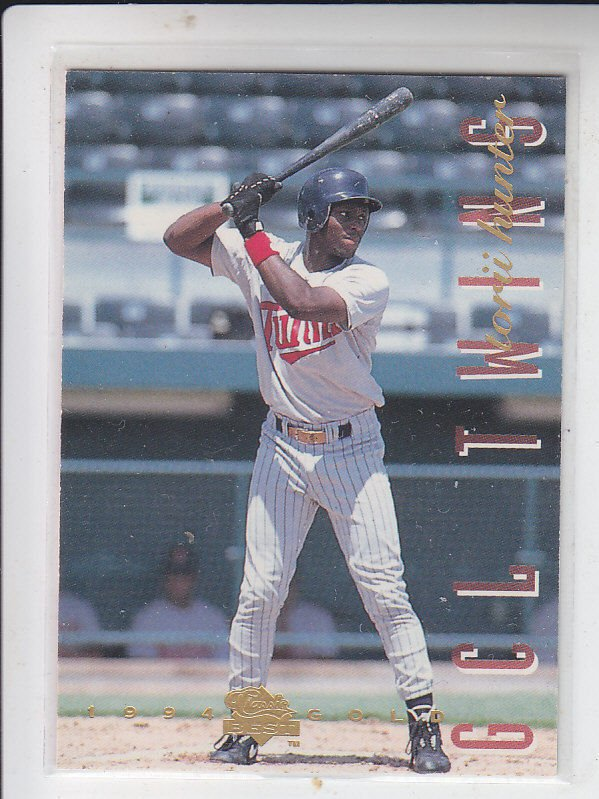 Torii Hunter RC Trading Card Single 1994 Classic/Best Gold #82 Twins