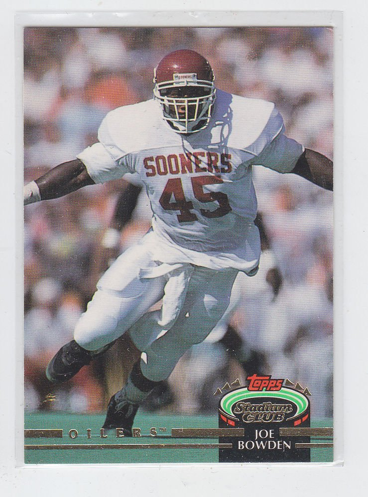 Joe Bowden RC Trading Card Single 1993 Stadium Club #501 Oilers