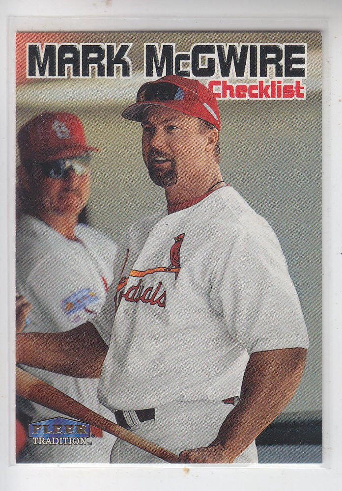 Mark McGwire CL Trading Card Single 1999 Fleer Tradition #595 Cardinals