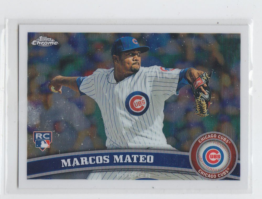 Marcus Mateo RC Trading Card Single 2011 Topps Chrome #179 Cubs