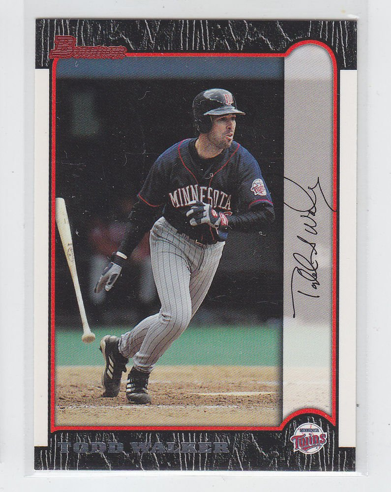 Todd Walker Then & Now Trading Card Single 1999 Bomwan #21 Twins