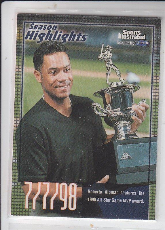 Roberto Alomar Trading Card Single 1999 Fleer Sports Illlustrated #22 Indians
