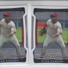 Ryan Howard Trading Card Lot of (2) 2009 Topps Finest #6 Phillies