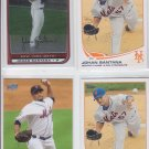 Johan Santana Trading Card Lot of (4) 2013 Topps #89 x2 2008 Bowman Chrome Mets