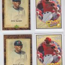 Torii Hunter Trading Card Lot of (4) 2007 UD Artifacts x2 & 2008 Heroes x2 Twins