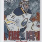 Ryan Miller Fire On Ice Insert 2013-14 Panini Select #FS-6 Sabres