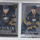 Chad Ruhwedel Rookie Card  Lot of (2) 2013/14 Panini Prizm #210 & Select #193